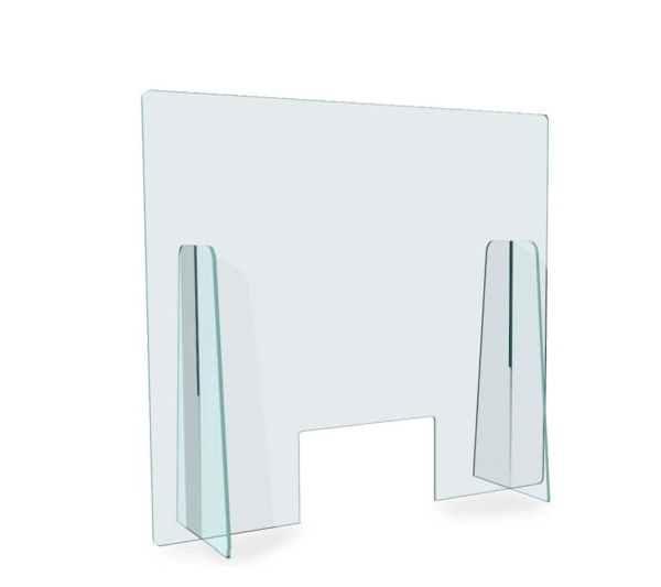 pannelli di sicurezza in plexiglass bancone